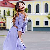 Одежда ручной работы. Ярмарка Мастеров - ручная работа Платье-рубашка с V-образным декольте. Handmade.