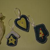 Подарки к праздникам ручной работы. Ярмарка Мастеров - ручная работа Набор елочных игрушек. Handmade.