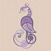 Материалы для творчества handmade. Livemaster - original item Machine Embroidery Design Bird bt006. Handmade.