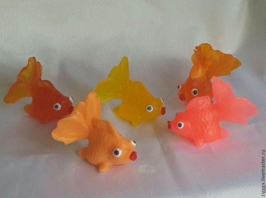 Мыло ручной работы. Ярмарка Мастеров - ручная работа. Купить золотая рыбка. Handmade. Рыбка, ручная работа, сувенир, подарок