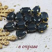 Материалы для творчества handmade. Livemaster - original item 7/10 black lacquer drop rhinestones. Handmade.