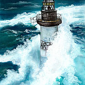 Картины и панно handmade. Livemaster - original item Ar-men lighthouse. Handmade.