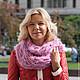 Шали, палантины ручной работы. Ярмарка Мастеров - ручная работа. Купить Снуд из итальянской пряжи крупной ручной вязки, розовый. Handmade.