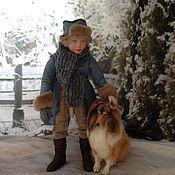 Куклы и игрушки ручной работы. Ярмарка Мастеров - ручная работа Друзья (кукла - мальчик с собакой). Handmade.