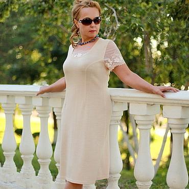 """Одежда ручной работы. Ярмарка Мастеров - ручная работа Трикотажное платье """"Нежнее нежного-2"""". Handmade."""
