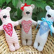 Куклы и игрушки ручной работы. Ярмарка Мастеров - ручная работа Именные мини-мишки. Handmade.