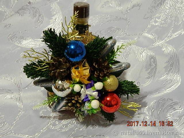 """Подвеска на бутылку """"Новый год"""", Обувь, Великий Устюг, Фото №1"""