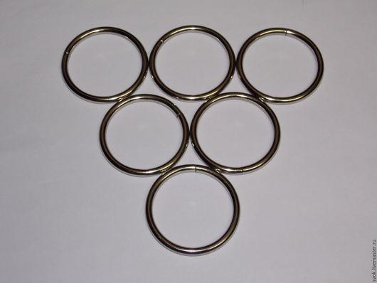 Шитье ручной работы. Ярмарка Мастеров - ручная работа. Купить Кольцо металлическое, 40 мм, цвет никель, фурнитура для сумок. Handmade.