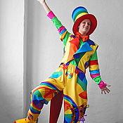 Одежда handmade. Livemaster - original item Rainbow-Clown. Animator-actor  suit. Handmade.