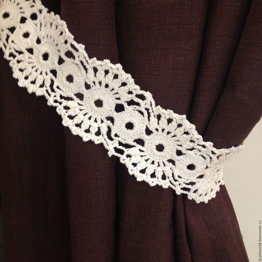 Текстиль, ковры ручной работы. Ярмарка Мастеров - ручная работа. Купить Подхват белый для штор вязаный. Handmade. Белый