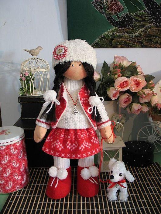 Человечки ручной работы. Ярмарка Мастеров - ручная работа. Купить Текстильная кукла Дженни. Handmade. Новогодний подарок