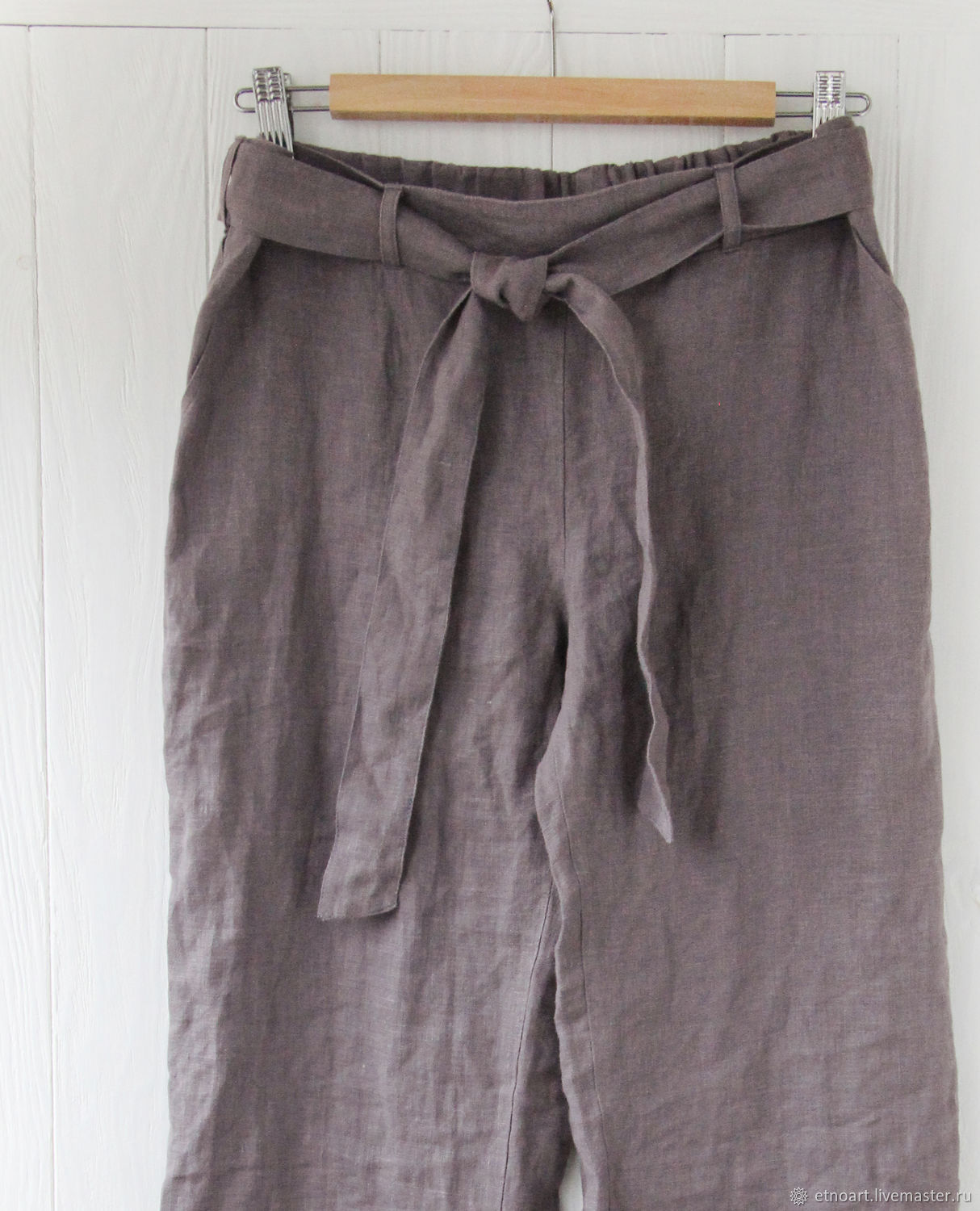 Linen trousers at the waist, Pants, Tomsk,  Фото №1