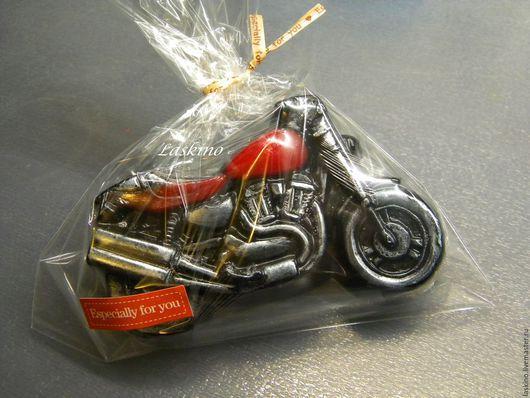 Мыло ручной работы. Ярмарка Мастеров - ручная работа. Купить Мыло БАЙК ( мотоцикл), сувенирное. Handmade. Черный, байк