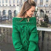 Одежда handmade. Livemaster - original item Womens green off-shoulder sweater from Shapar. Handmade.