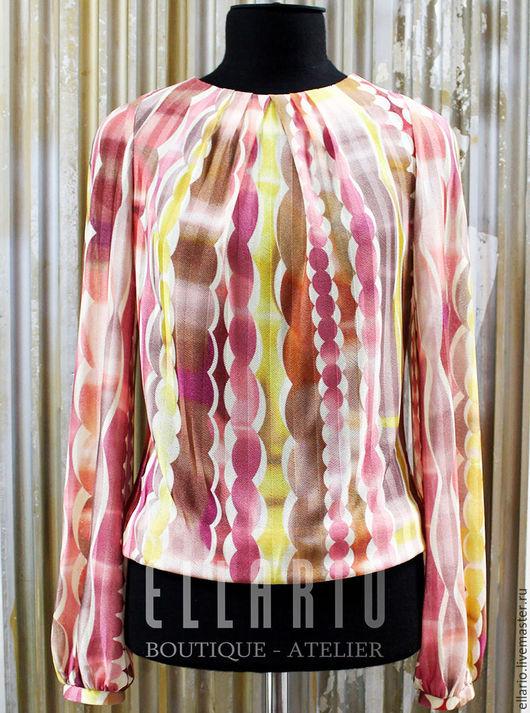 Блузки ручной работы. Ярмарка Мастеров - ручная работа. Купить Блуза из трикотажа Missoni. Handmade. Розовый, блуза, трикотаж missoni