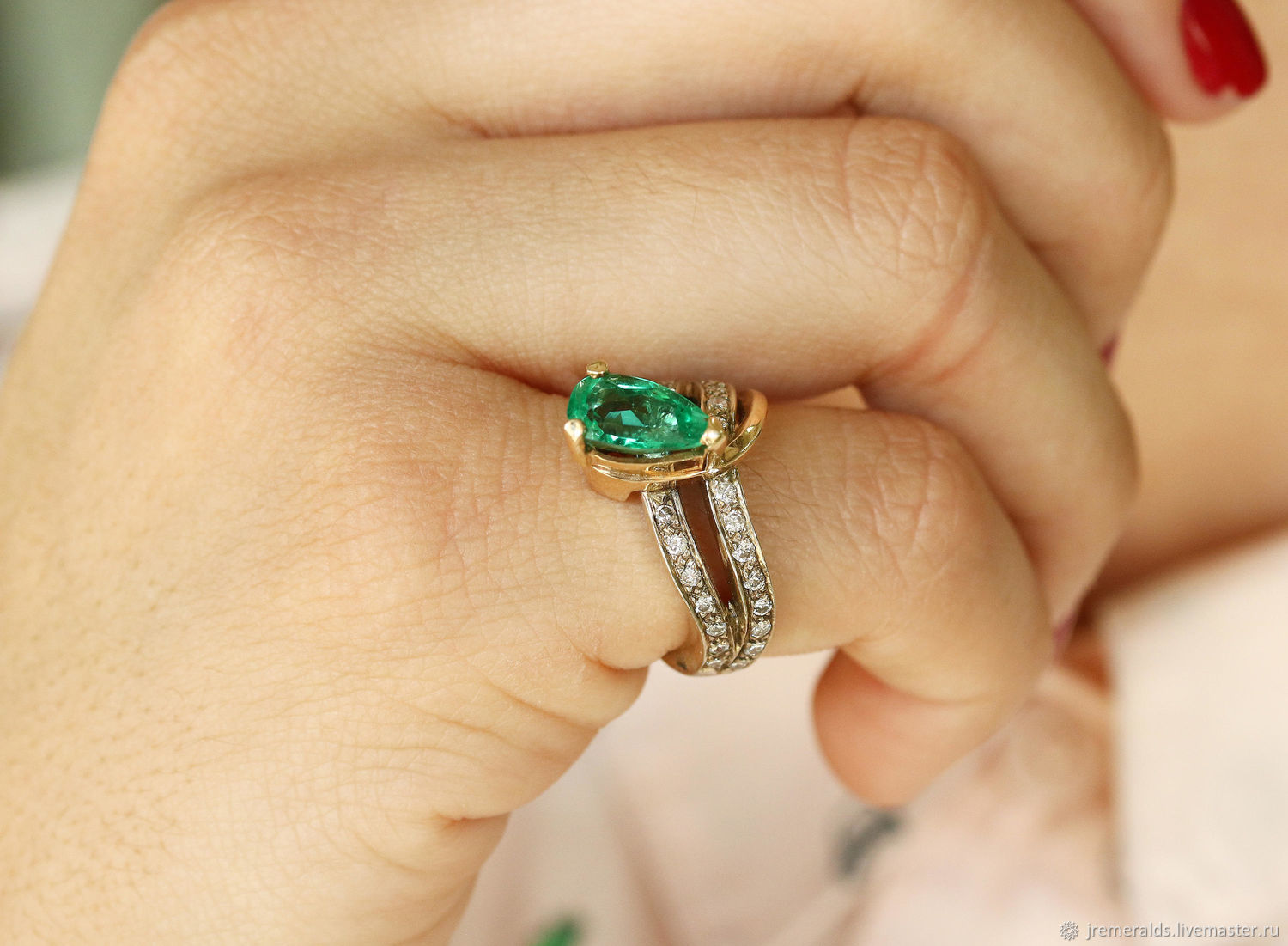 Colombian Emerald & Diamond Ring 2.40cts, Natural Emerald Gold Ring, Rings, West Palm Beach,  Фото №1