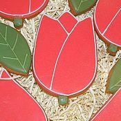 """Пряники ручной работы. Ярмарка Мастеров - ручная работа Пряник """"Тюльпан"""". Handmade."""