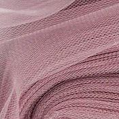 Материалы для творчества ручной работы. Ярмарка Мастеров - ручная работа Фатин средней жесткости (шир. 3м) ак28 Бледно-каштановый. Handmade.