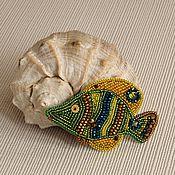 Украшения ручной работы. Ярмарка Мастеров - ручная работа Брошь Рыбка зелёная. Handmade.