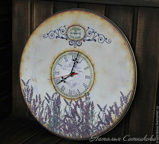 """Часы для дома ручной работы. Ярмарка Мастеров - ручная работа. Купить Часы настенные большие """"Ветер с полей"""". Handmade. Комбинированный"""
