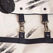 """Сумки и аксессуары ручной работы. Ярмарка Мастеров - ручная работа рюкзак белый с рисунком """"  абстракция  №2"""". Handmade."""