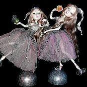Куклы и игрушки ручной работы. Ярмарка Мастеров - ручная работа куклы Карамельки розовые полимерная глина. Handmade.