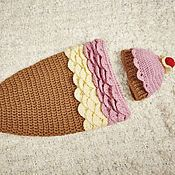 """Работы для детей, ручной работы. Ярмарка Мастеров - ручная работа Комплект """"Ванильно-клубничное мороженое"""". Handmade."""