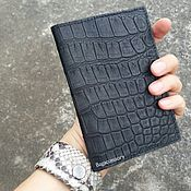 Канцелярские товары handmade. Livemaster - original item Passport cover made of genuine crocodile skin. Handmade.