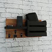 Для дома и интерьера handmade. Livemaster - original item Key holder with shelf made of wood. Handmade.