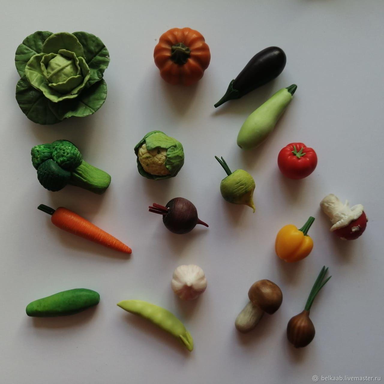 Набор овощей 21 штука, Кукольная еда, Москва,  Фото №1