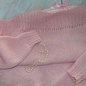 """Одежда ручной работы. Ярмарка Мастеров - ручная работа Пуловер удлиненный """"Нежно-нежно розовый..."""" (итал. кид-мохер на шелке). Handmade."""