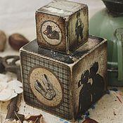 Для дома и интерьера handmade. Livemaster - original item First kiss, a set of children`s blocks. Handmade.