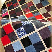 Для дома и интерьера ручной работы. Ярмарка Мастеров - ручная работа Яркое Джинсовое покрывало, односпальное. Handmade.