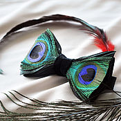 Аксессуары handmade. Livemaster - original item Bow tie with peacock feathers and rooster. Handmade.