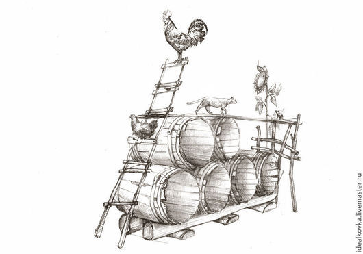 эскиз дровницы для загородного дома