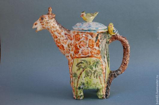 """Чайники, кофейники ручной работы. Ярмарка Мастеров - ручная работа. Купить """"Жираф"""".Чайник заварочный. Handmade. Разноцветный, необычный чайник"""