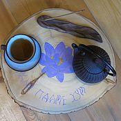 Для дома и интерьера ручной работы. Ярмарка Мастеров - ручная работа Дзен-столик Ом Мани Падме Хум. Handmade.