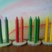 Свечи ручной работы. Ярмарка Мастеров - ручная работа Свечи из натурального воска. Handmade.