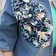 Верхняя одежда ручной работы. Заказать Джинсовый жакет в стиле хэнд мэйд. Natalia Zorina. Ярмарка Мастеров. Ручная работа