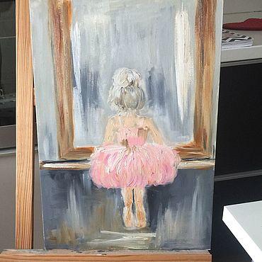 Картины и панно ручной работы. Ярмарка Мастеров - ручная работа Картина «Маленькая балерина». Handmade.
