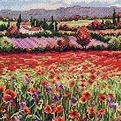 """Картины и панно ручной работы. Ярмарка Мастеров - ручная работа Вышитая картина """"Маковое поле"""". Handmade."""