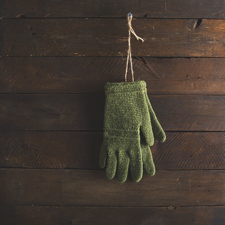 Варежки, митенки, перчатки ручной работы. Ярмарка Мастеров - ручная работа. Купить Вязаные перчатки Wormwood. Handmade. Варежки, митенки