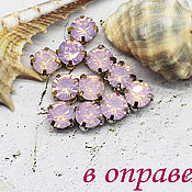 Материалы для творчества handmade. Livemaster - original item Rhinestones 6 mm Pink opal. Handmade.