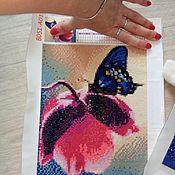 """Фотокартины ручной работы. Ярмарка Мастеров - ручная работа Алмазная мозаика """"Бабочки"""". Handmade."""