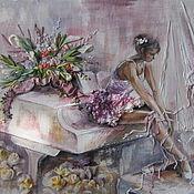 Картины и панно ручной работы. Ярмарка Мастеров - ручная работа картина Балерина на рояле. Handmade.