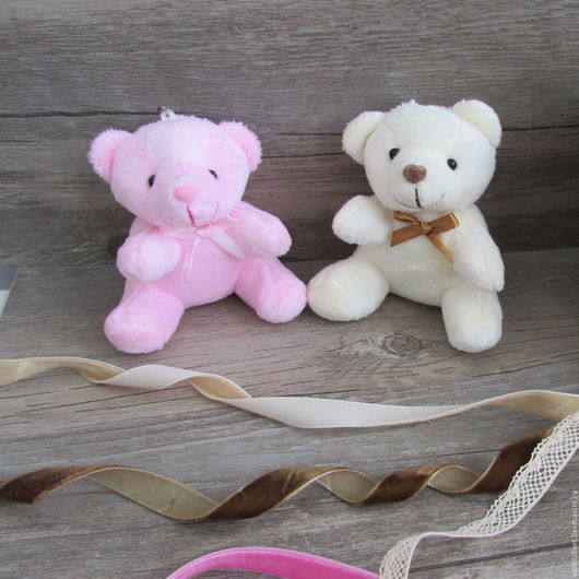 Игрушка для куклы Мишка, 8 см, 2 вида расцветки
