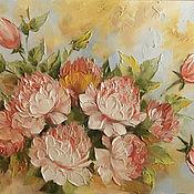 Картины и панно ручной работы. Ярмарка Мастеров - ручная работа пионы цветы. Handmade.