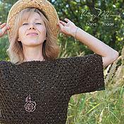 Одежда ручной работы. Ярмарка Мастеров - ручная работа Короткий пуловер крючком. Handmade.
