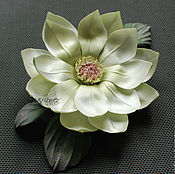Цветы и флористика handmade. Livemaster - original item Silk flower Magnolia