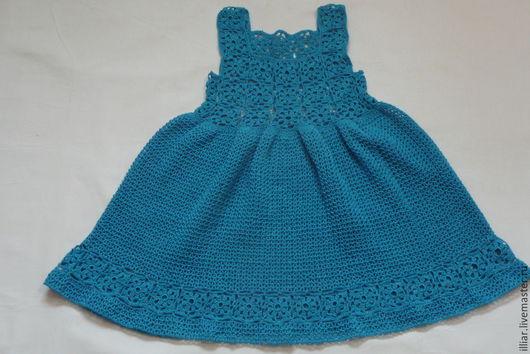 """Одежда для девочек, ручной работы. Ярмарка Мастеров - ручная работа. Купить Сарафан """" Василёк"""". Handmade. Синий, легкое платье"""